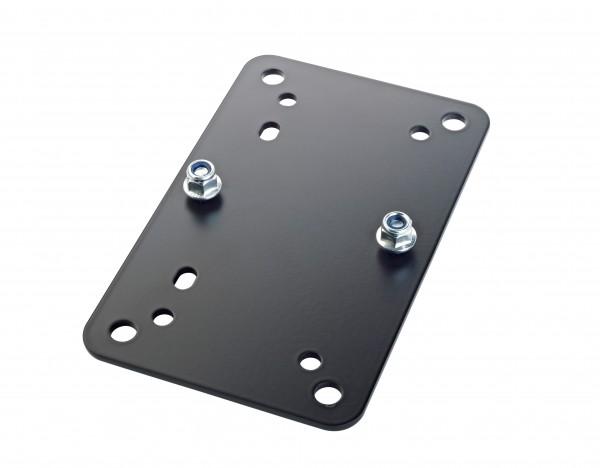 K&M 24354 Adapterplatte 2 schwarz