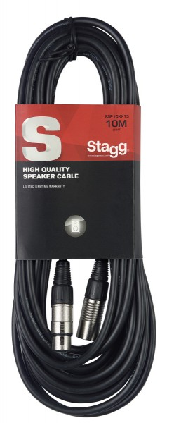 STAGG SSP1,5XX15 Lautsprecherkabel, XLR/XLR (m/f), 1.5 m