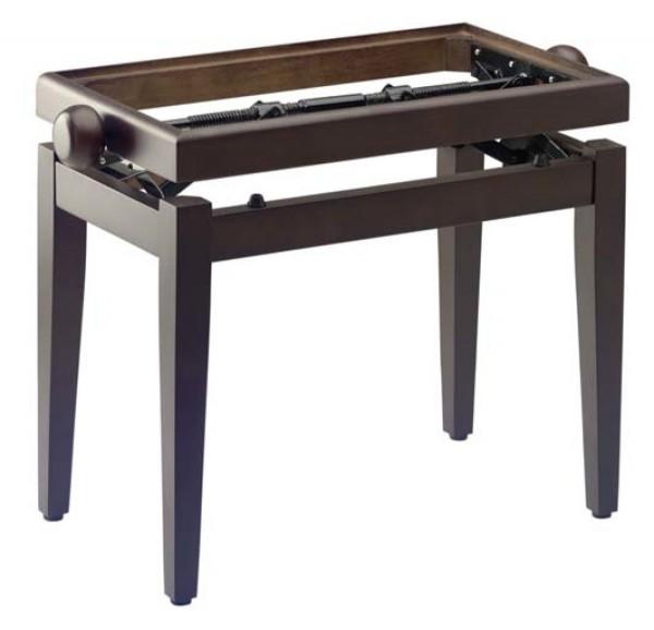 STAGG PB45 WN DARK M Matt, Klavierbank, Farbe dunkles Walnuss, ohne Sitzfläche