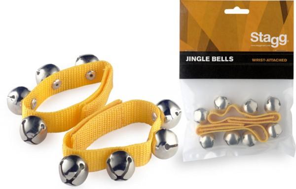 STAGG SWRB4 S/YW Glocken-Armbänder - jedes Armband mit 4 Glocken