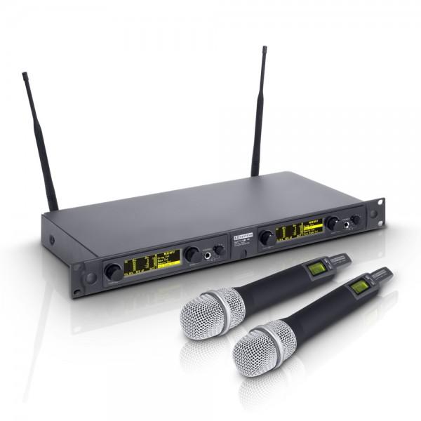 LD Systems WIN 42 HHD 2 - Funkmikrofon System mit 2 x Handmikrofon dynamisch