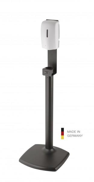K&M 80359 Desinfektionsmittelsäule inkl. Sensorspender schwarz