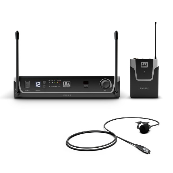 LD Systems U305.1 BPL - Funksystem mit Bodypack und Lavalier Mikrofon