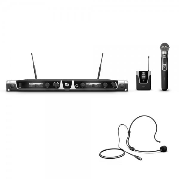 LD Systems U506 HBH 2 - Funkmikrofon System mit Bodypack, Headset und Handmikrofon dynamisch