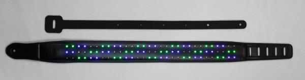 DC LED Gitarrengurt Circles schwarz