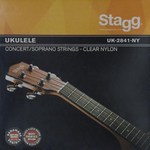 STAGG UK-2841-NY Transparenter Nylon Saitensatz für Ukulele