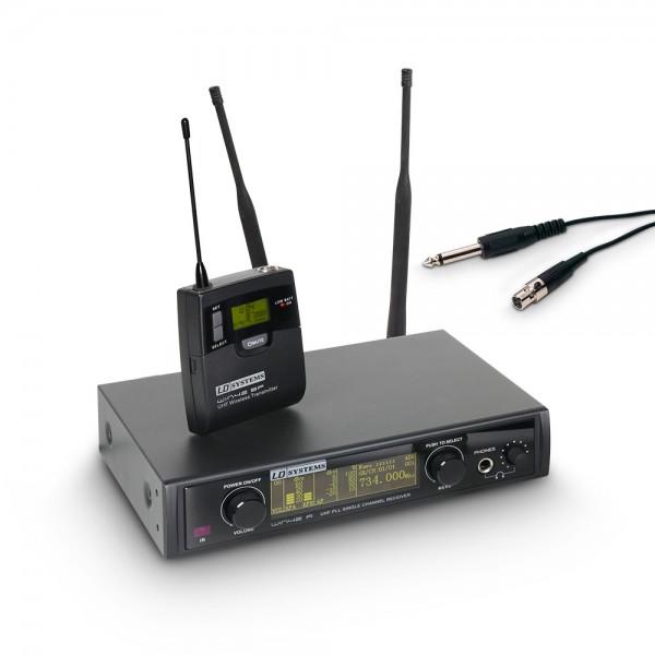 LD Systems WIN 42 BPG - Funkmikrofon System mit Belt Pack und Gitarrenkabel