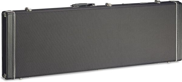 STAGG GCX-RB BK Vintage-Style Serie Schwarz Tweed Deluxe Hartschalenkoffer für E-Bassgitarre, vierec