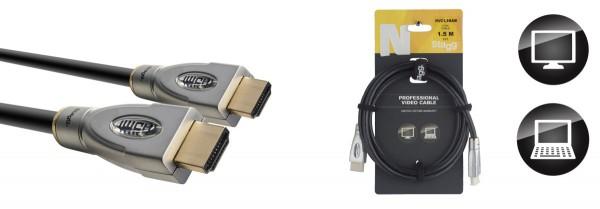 STAGG NVC1,5HAM N-Serie HDMI 1.4 Kabel