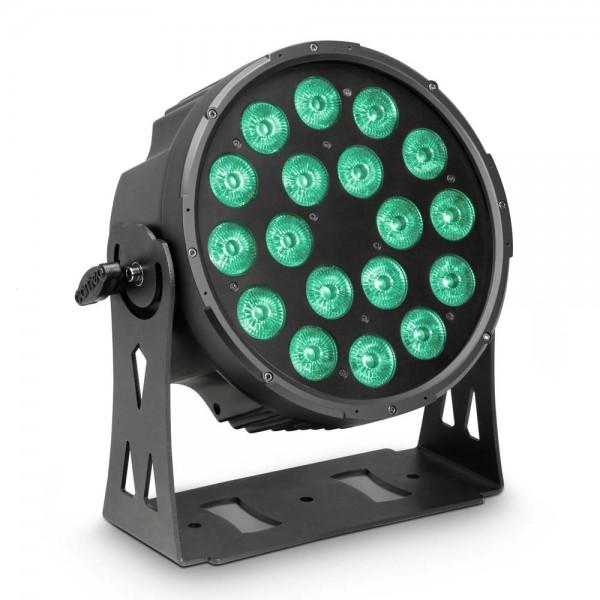 Cameo FLAT PRO 18 - 18 x 10 W FLAT LED RGBWA PAR Scheinwerfer in schwarzem Gehäuse