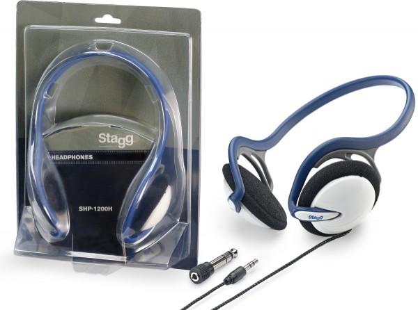 STAGG SHP-1200H Leichte, Dynamische Stereo Kopfhörer mit Nackenbügel