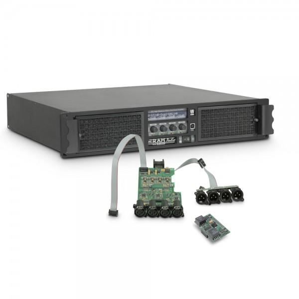 Ram Audio W 12044 DSP AES - PA Endstufe 4 x 2950 W 4 Ohm inkl. DSP Modul mit AES/EBU digitalem Einga
