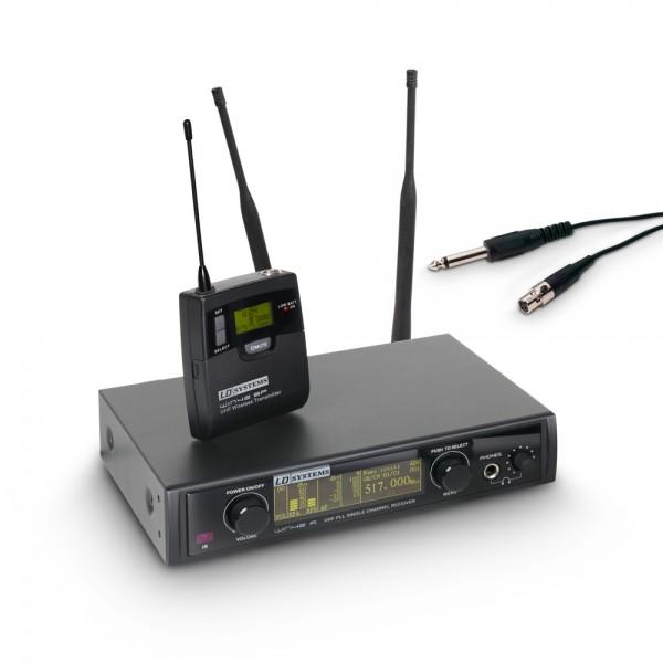 LD Systems WIN 42 BPG B 5 - Funkmikrofon System mit Belt Pack und Gitarrenkabel Band 5 584 - 607 MHz